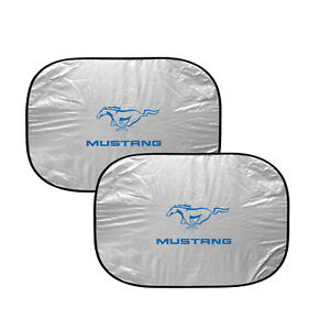 Ford Mustang In Blue Dual Panels Easy Folding Windshield Sun Shade
