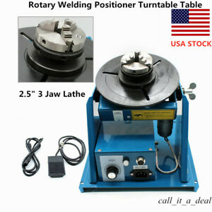 10kg Rotary Welding Positioner Turntable Welder Table 2 5 3 Jaw Chuck 110v Usa