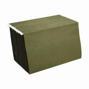 Staples Hanging File Folders Legal Size Standard Green 25 box 392862