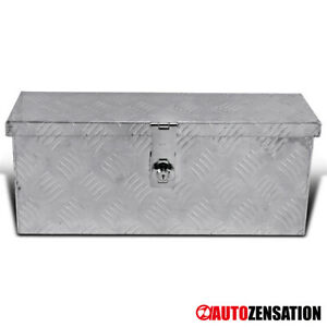 20 Heavy Duty Aluminum Tool Box Truck Storage Trunk Trailer Organizer Lock Keys