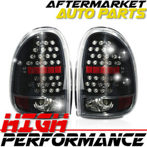For 1998 2003 Dodge Durango Led Tail Light Glossy Black Clear