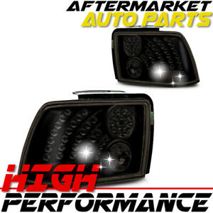 For 1999 2004 Ford Mustang Tail Lights Black smoke