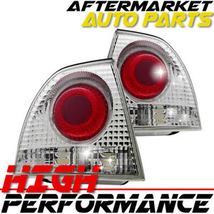 For 1994 1995 Honda Accord Halo Projector Head Light Clear