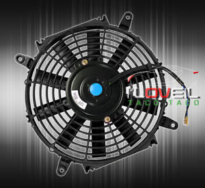 16 1730 Cfm Slim Fan Black Universal Push Pull Electric Radiator Cooling Fan