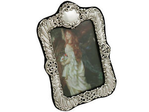 1900s Victorian Sterling Silver Photo Frame Height 29 3cm