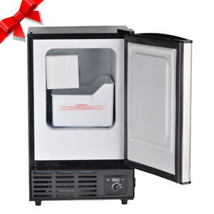 Smad Commercial Stainless Steel Ice Maker Undercounter Ice Cube Machine Portable