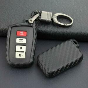 For Toyota Camry Rav4 Highlander Corolla Key Chain Ring Fob Case Cover Holder