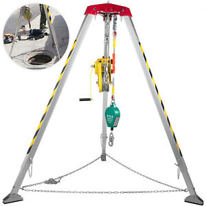 Confined Space Tripod Safety Tripod With 1200lbs Winch Rescue Tripod 8ft Legs