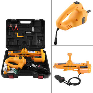 12v 3 Ton Car Electric Power Scissor Jack Lifting Impact Wrench Tools Fitting