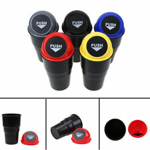 Car Trash Can Garbage Dust Bin Coin Holder Ashtray Cup Case Home Office