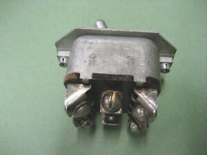 New Universal 6 Terminal Toggle Switch 2 On Position Vintage Obsolete Antique