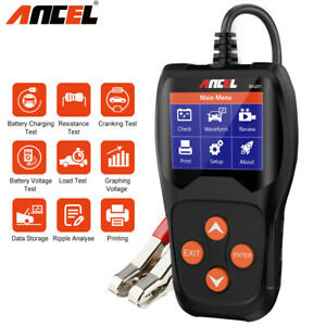 Ancel Car 12v Battery Tester 100 2000cca Digital Battery Analyzer Tool Ba201