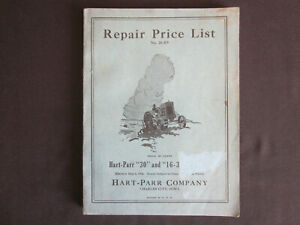 1926 Charles City Iowa HART-PARR Company TRACTORS Repair Price List CATALOG