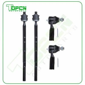 4set Inner Outer Tie Rod Fits Ford Escape Mazda Tribute Mercury Mariner Steering