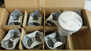 454 Chevy Pistons Cast 040 Over Flat Top 2 Reliefs
