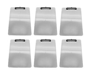 6pk Clear Plastic Clipboards Low Profile Clip 12 5 X 9 Office Products Bulk Lot