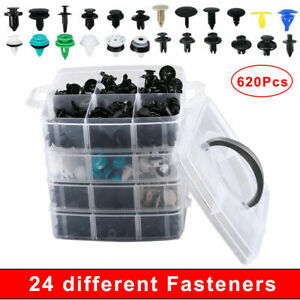 620x Set Bumper Clip Plastic Car Fasteners Fender Repair Parts Clips 24 Kinds
