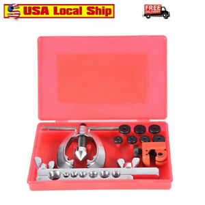 Double Flaring Brake Line Tool Kit Tubing Car Truck Tool With Mini Pipe Cutter