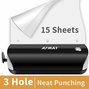 Electric 3 Hole Punch Afmat Electric Hole Punch Heavy Duty 15 sheet Paper
