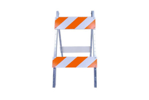 Reflective Safety Barricade 8 X 24 In Type Ii Eg Sheeting Traffic Construction