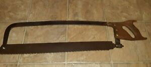 Vintage Large Henry Disston Sons Warranted Meat Saw Blade Is 23 Inches Long