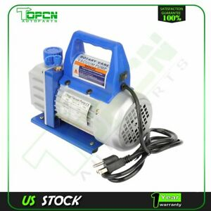 3 Cfm 1 4 Hp Blue 1 Stage Rotary Vane Deep Vacuum Pump Hvac Ac Air Tool Kit