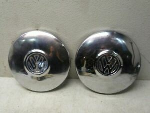 Pair Of Wheel Covers For 1977 Volkswagen Beetle