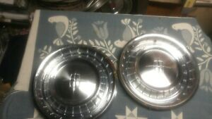 Pair Original 1961 1962 1963 Lincoln Hubcaps 15 Free Shipping