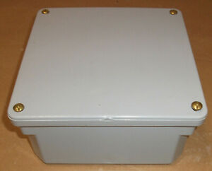 Scepter Pvc Enclosure Industrial Grey Box Junction 8 X 8 X 4 Nema 4x Sealed