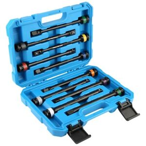 10pcs 1 2in Drive Torque Stick Limiter Extension Bar Colorful mark Fitting Set