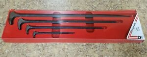 Snap On 4pc Rolling Head Pry Bar Set Lady Foot 6 12 16 20 Pbs704 New Sealed