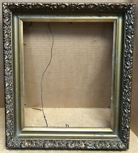 Antique Gold Gilt Gesso Wood Picture Frame 13 X 15 With A 10 X 12 Opening