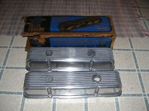 Nos Cal Custom Aluminum Small Block Chevy Valve Covers 40 2300