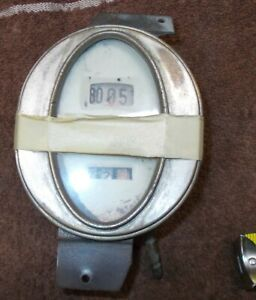 Vintage Antique Oval Drum Speedometer 0 80 Mph Packard Ford Cadillac Rat Rod