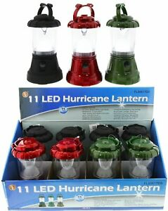 Lantern Camping Assorted Colors 11 Led 8 Pc Display