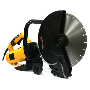 14 Portable Concrete Saw 3200w Corded Electric 4100 Rpm W Water Pump Blade