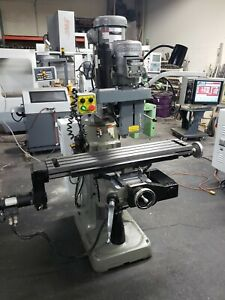 Bridgeport Ez trak Cnc 3 axis Vertical Milling Machine 2001 Cream Puff