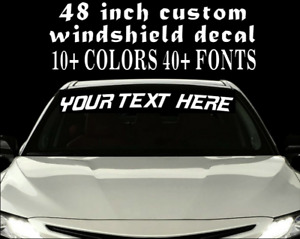 Custom Vinyl Windshield Banner Lettering Decal Name Sticker Window Tattoo Car