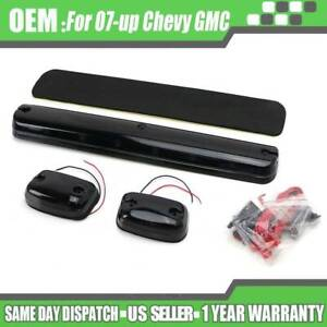 3pcs Full Amber Led Cab Roof Marker Light Assy For 07 Up Chevy Gmc 2500hd 3500hd