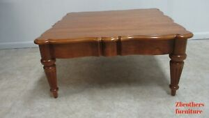 Ethan Allen Legacy Oversized Coffee Table French Country