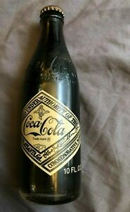 FULL 10oz COCA-COLA 75th ANNIVERSARY SODA BOTTLE Atlanta GA