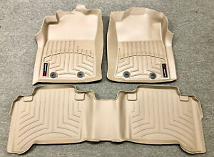 New For 12 15 Toyota Tacoma Floor Liner Rubber Mats Pads Kit Weathertech Tan