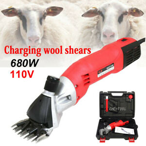 680w Sheep Shears Electric Goat Clipper Grooming Livestock Shears 110v