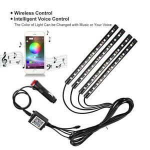 Daily Car Led Strip Lights 48 Led Bluetooth App Controller Interior Music Lights