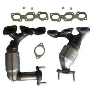 Catalytic Converter Manifold For Ford Escape Mazda Tribute Front Rear Bank 1 2