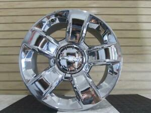 15 18 Chevrolet Suburban Silverado Tahoe 20 X 9 Chrome Wheel 5 Spoke Opt Rd2