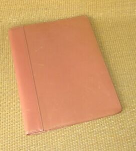 Monarch Franklin Covey Pink salmon Leather Wire Bound Folio Planner Cover