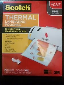 3m Scotch Thermal Laminating Pouches Letter Size 8 5 X 11 5 Mil Sealed