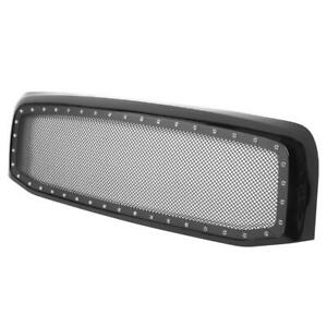 Front Hood Mesh Glossy Black Grille For Dodge Ram 1500 2500 3500 2006 2007 2008