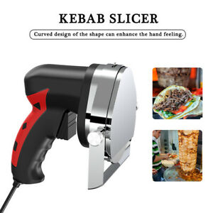110v Electric Kebab Slicer Cutter Meat Knife Doner Shawarma Gyro Cutting Machine